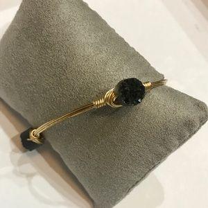 New Bourbon and Boweties Black Druzy Bracelet Cuff